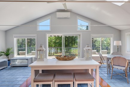West Dennis Cape Cod vacation rental - Living Room with Cove Views