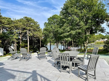 West Dennis Cape Cod vacation rental - Entertaining Patio overlooking Bass River!