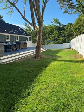 East Dennis Cape Cod vacation rental - Fenced in back yard