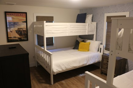 East Dennis Cape Cod vacation rental - South Bedroom with (2) Twin over Full bunk beds