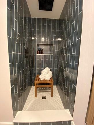 East Dennis Cape Cod vacation rental - Master bathroom with rain head shower
