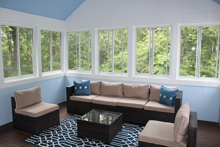 Yarmouth Port Cape Cod vacation rental - Great sun room, plenty of comfy seating