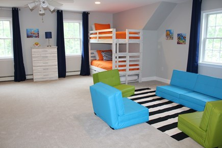 Yarmouth Port Cape Cod vacation rental - Lounge area in bunk room