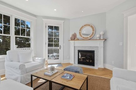 Chatham, Crows Pond and Pleasant Bay Cape Cod vacation rental - Observatory Room with Gas Fireplace & Views in all directions
