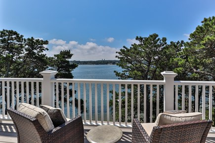 Chatham, Crows Pond and Pleasant Bay Cape Cod vacation rental - Deck off 3rd floor den