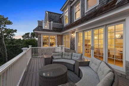 Chatham, Crows Pond and Pleasant Bay Cape Cod vacation rental - Expansive deck with breathtaking views of Crow's pond