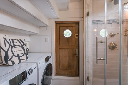East Sandwich Cape Cod vacation rental - Bath with walk in shower and laundry