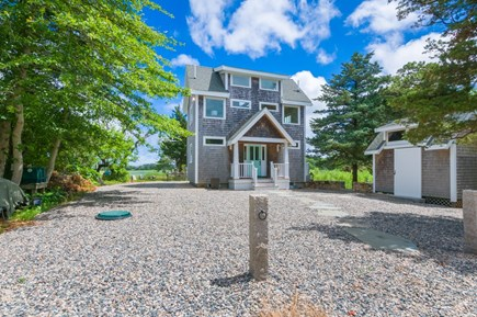 East Sandwich Cape Cod vacation rental - Front of house and shed
