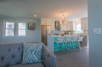 East Sandwich Cape Cod vacation rental - Kitchen opens into Living area
