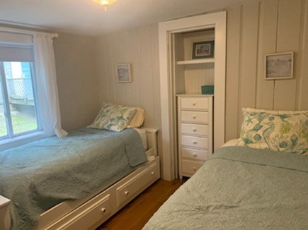 Falmouth, Sippewisset Cape Cod vacation rental - Second bedroom, 2 twins with trundle