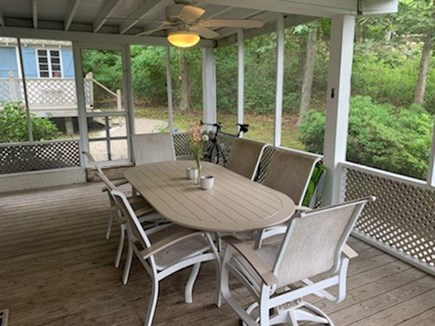 Falmouth, Sippewisset Cape Cod vacation rental - Screen porch, seating for 6