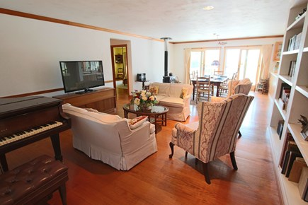Truro Cape Cod vacation rental - Large Living Room open to Dining Area