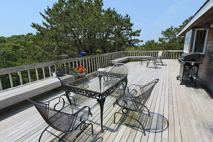 Truro Cape Cod vacation rental - Spacious Deck with distance view of Cape Cod Bay