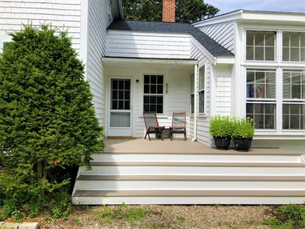 Barnstable, Cummaquid Cape Cod vacation rental - Side Entrance with new Deck/Landing