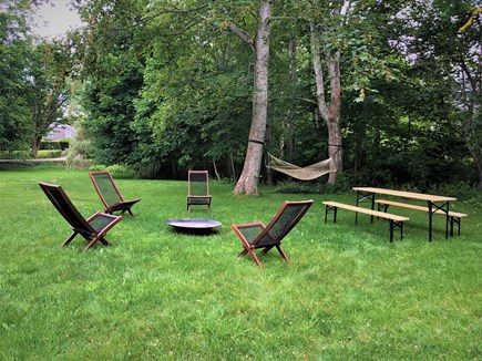 Barnstable, Cummaquid Cape Cod vacation rental - Large Yard with Seating and Firepit