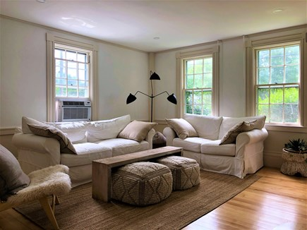 Barnstable, Cummaquid Cape Cod vacation rental - Living Room on driveway side of home