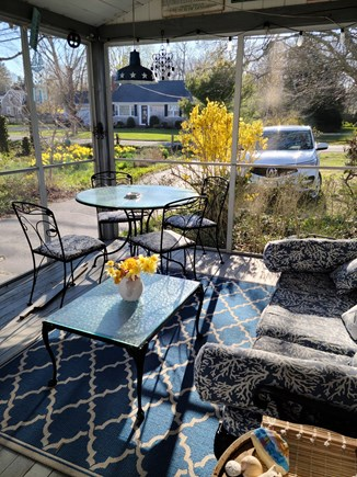 Yarmouthport Cape Cod vacation rental - Relax on screened porch!