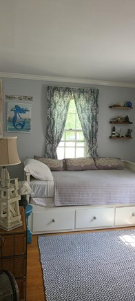 Yarmouthport Cape Cod vacation rental - Downstairs bedroom with pullout trundle.