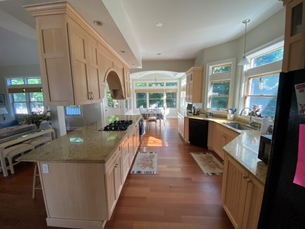 Chatham Cape Cod vacation rental - Kitchen with 5 burner gas stovetop, DW, microwave, oven, fridge