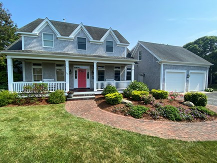 Chatham Cape Cod vacation rental - Front of house with rocking chairs on porch