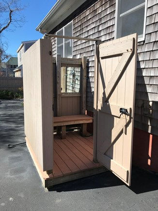 East Falmouth Cape Cod vacation rental - Spacious outdoor shower.
