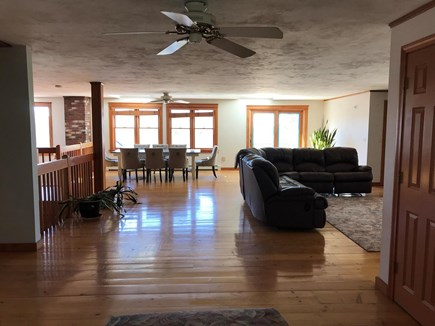 East Falmouth Cape Cod vacation rental - Large upstairs dining/living area. View to the Vineyard.