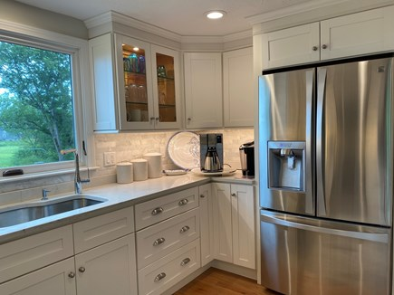 East Sandwich Cape Cod vacation rental - Large refrigerator in kitchen with beautiful natural lighting