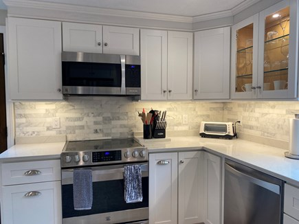 East Sandwich Cape Cod vacation rental - Kitchen with stainless steel appliances