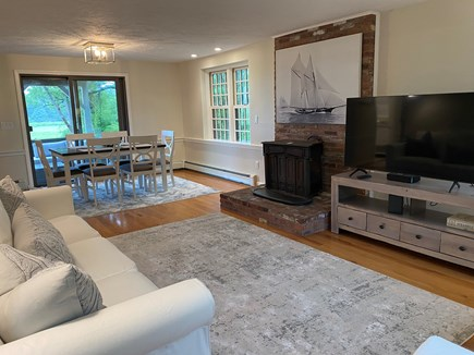 East Sandwich Cape Cod vacation rental - Open floor-plan living room and dining area