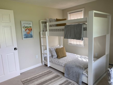 East Sandwich Cape Cod vacation rental - 3rd bedroom with twin bunk beds