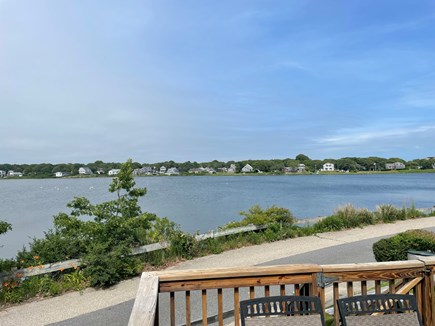 Falmouth Cape Cod vacation rental - Coffee off the deck