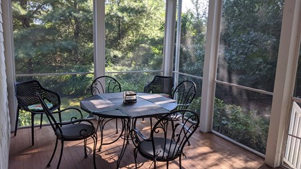 West Hyannis Cape Cod vacation rental - Porch dining area