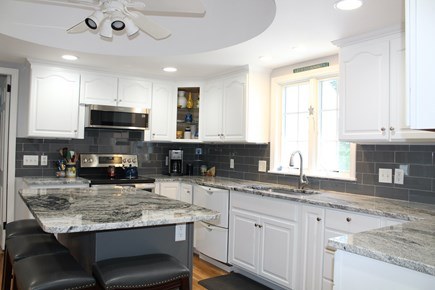 Brewster Cape Cod vacation rental - Upgraded, fully equipped kitchen with island seating