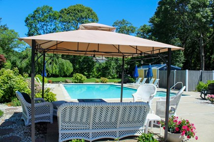 Brewster Cape Cod vacation rental - Resort feel for the the patio and pool.