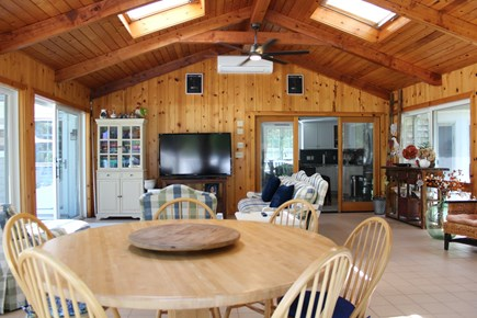 Brewster Cape Cod vacation rental - TV lounge and dining table here as well