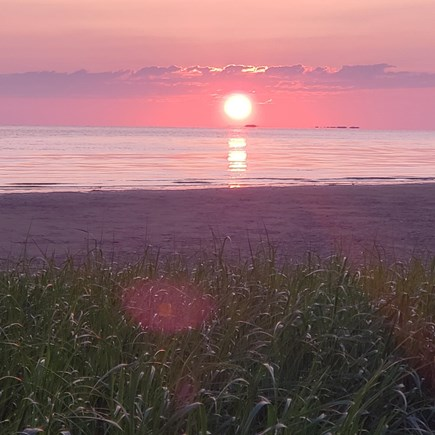Eastham Cape Cod vacation rental - Sunset from private beach