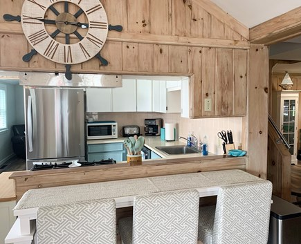 Dennis Port Cape Cod vacation rental - Kitchen view from dining room.