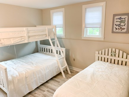Dennis Port Cape Cod vacation rental - Upstairs Twin over Full plus Twin bedroom.