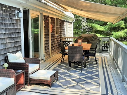 East Sandwich Cape Cod vacation rental - Entertainment Sized Sundeck with Gas Grill and Awning