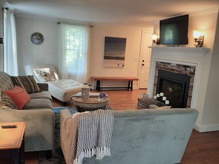 East Sandwich Cape Cod vacation rental - Lovely front to back Livingroom with glass sliders to deck