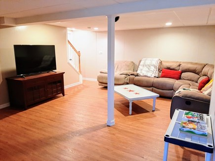 East Sandwich Cape Cod vacation rental - Downstairs TV room