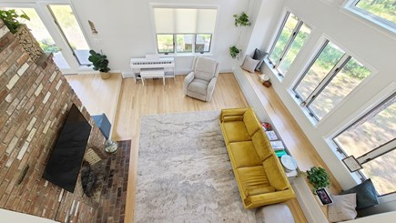 Wellfleet Cape Cod vacation rental - Open and bright living room with plenty of windows