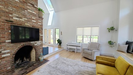 Wellfleet Cape Cod vacation rental - Living room has comfortable seating and flat screen TV