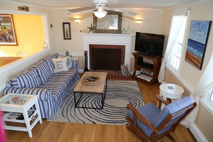 East Sandwich Cape Cod vacation rental - Living area opens to Kitchen