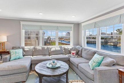 West Dennis Cape Cod vacation rental - Main Living Room open to Kitchen and Dining
