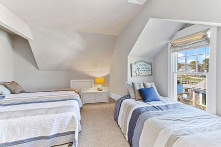 West Dennis Cape Cod vacation rental - 2nd Floor Bedroom with 1 queen bed and 1 twin