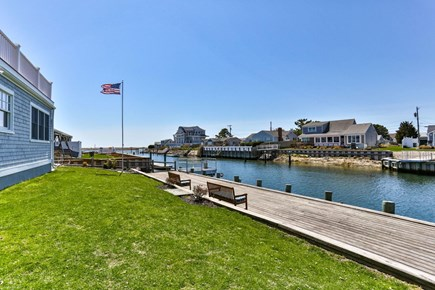 West Dennis Cape Cod vacation rental - Out Back-View of Dock
