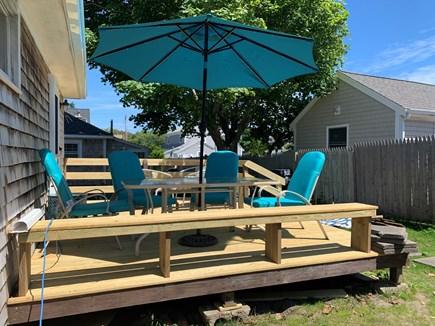 Dennis Port Cape Cod vacation rental - Large back deck.