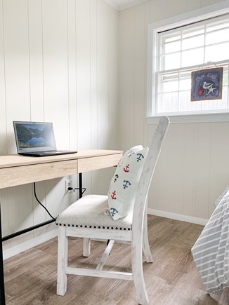 Dennis Port Cape Cod vacation rental - Desk in twin bedroom.