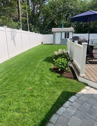 Centerville Cape Cod vacation rental - New fenced in back yard